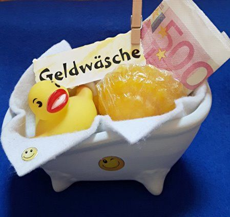 Vorbereitetes Geldgeschenk / Geldwäsche #lustigegeschenke