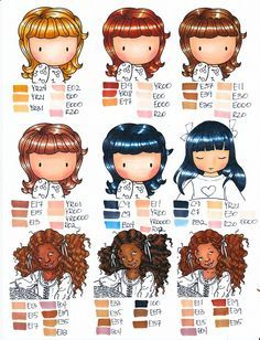 hair and skin tones - Skin Color Markers