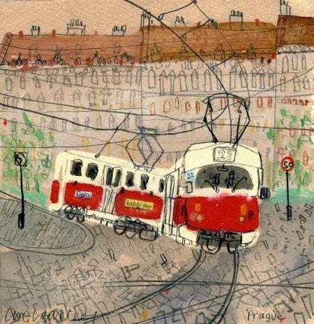 Claire Caulfield:  Prague Train