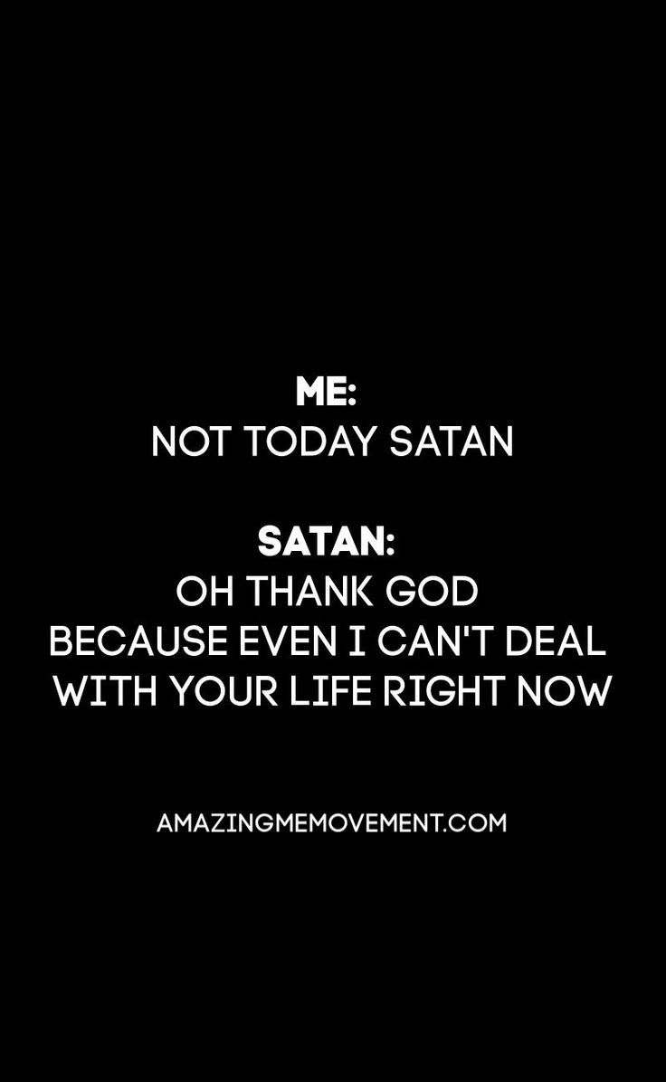 Funny Quote about Satan