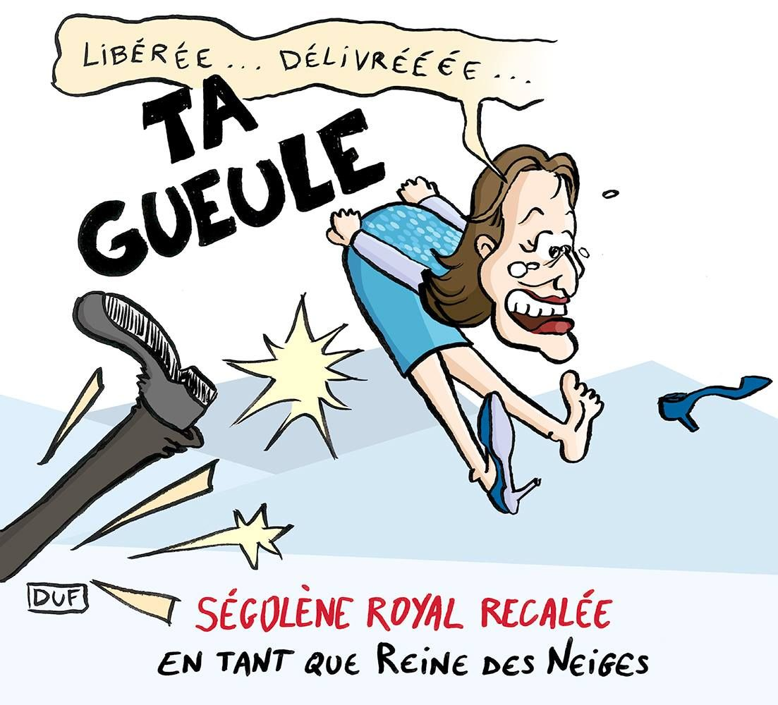 dessin d'actualité, Duf, dessin de Duf, blague Ségolène Royal, blague ambassadrice des pôles ...