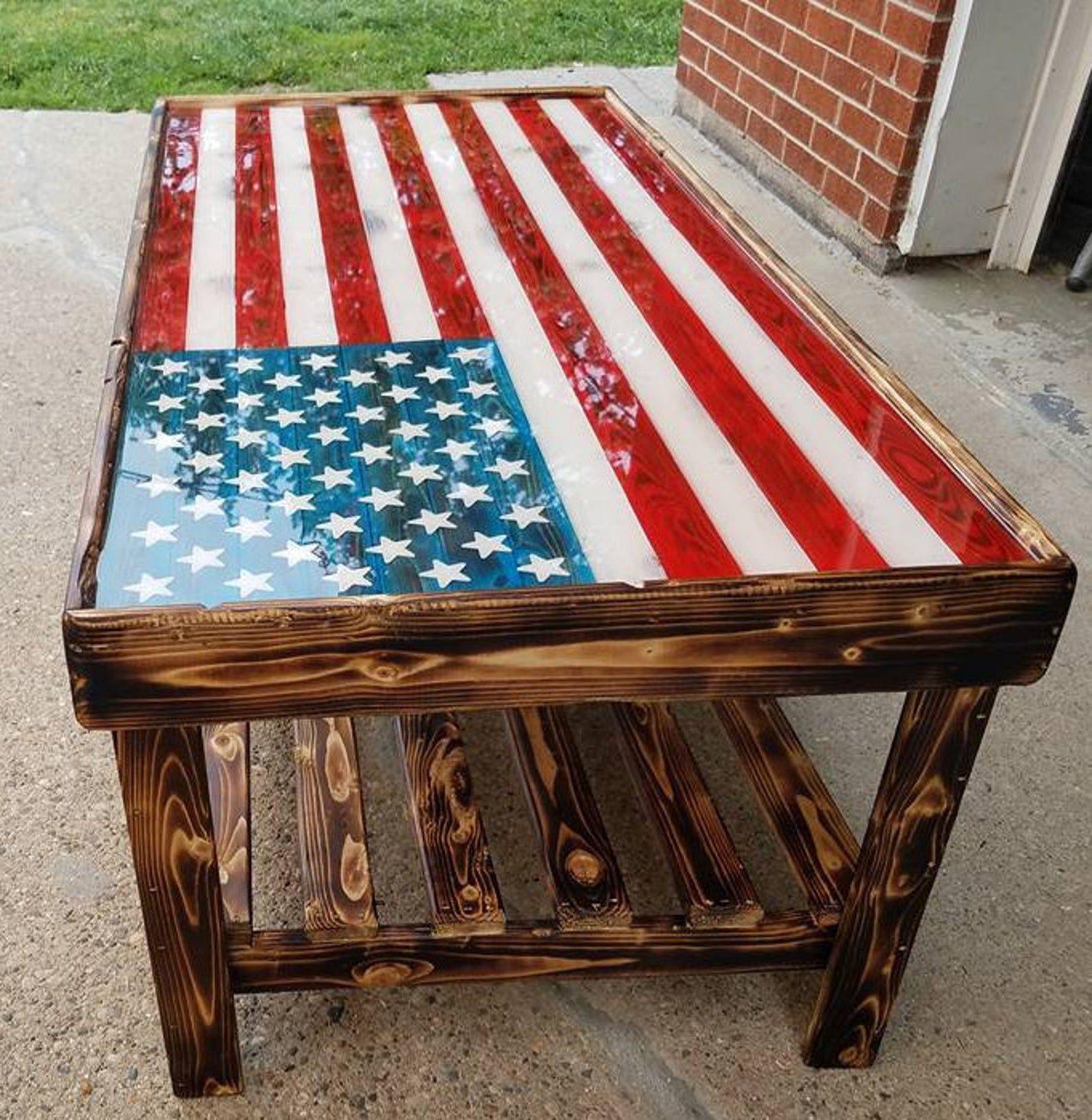 American Flag Coffee Table American Flag Wood Coffee Table
