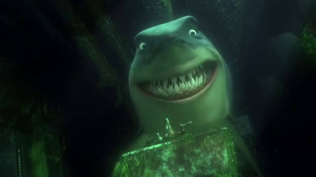 Finding Nemo: Shark Scene - YouTube