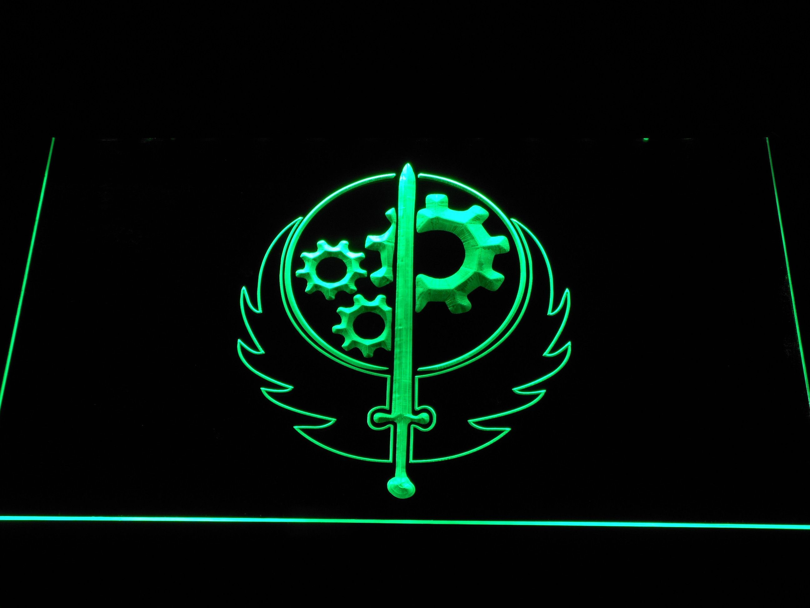 Fallout Brotherhood Of Steel Led Neon Sign Neon Signs Led Neon Signs Fallout Brotherhood Of Steel