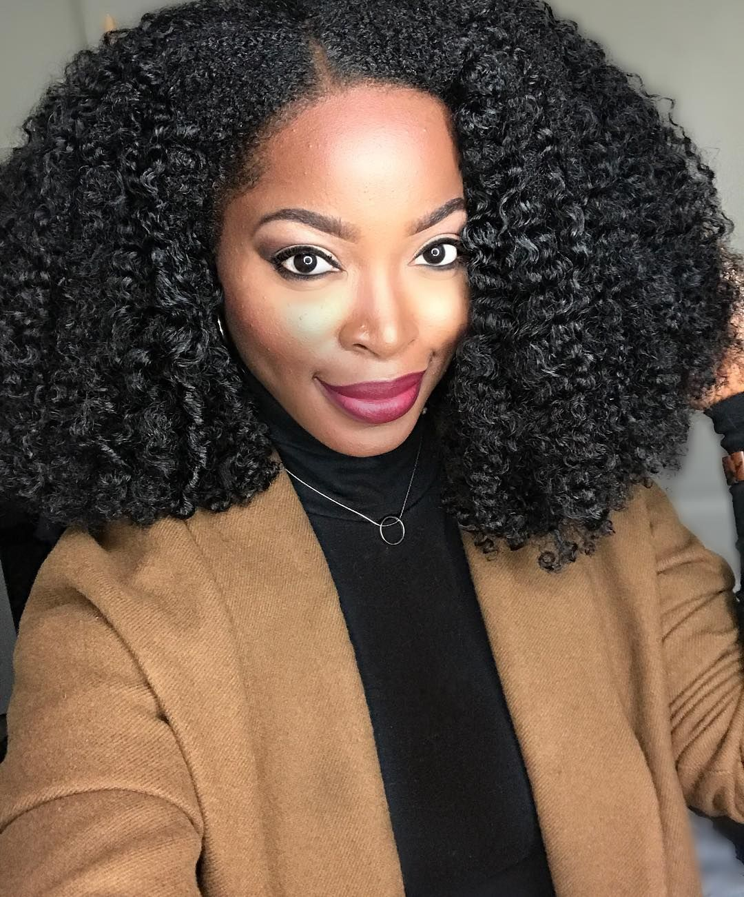 Twist Out On Natural Curly U Part Wig Natural Hair Extensions