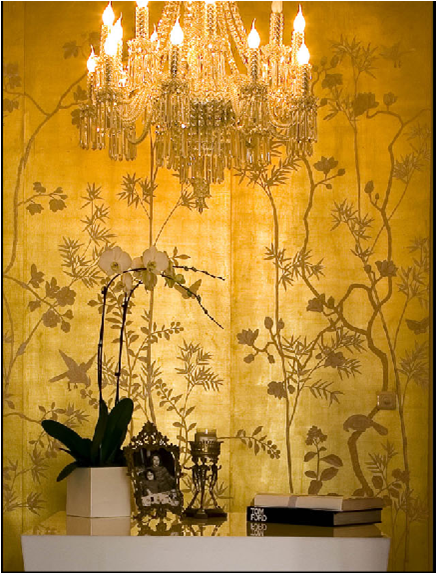 Gold Leaf Chinoiserie Wallpaper Series De Gournay Will Also Be Needing This