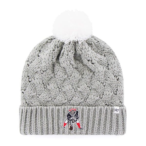 New England Patriots Women s 47 Brand Classic Gray Fiona Cuff Knit ... 487c304799