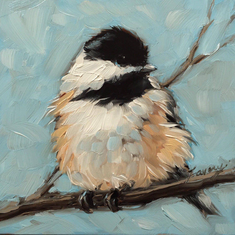 Palette Knife Acrylic Painting – Blue Bird  |Bird Painting Acrylic