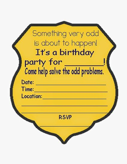 Odd Squad Party Invitations Spy Birthday Parties Spy Party
