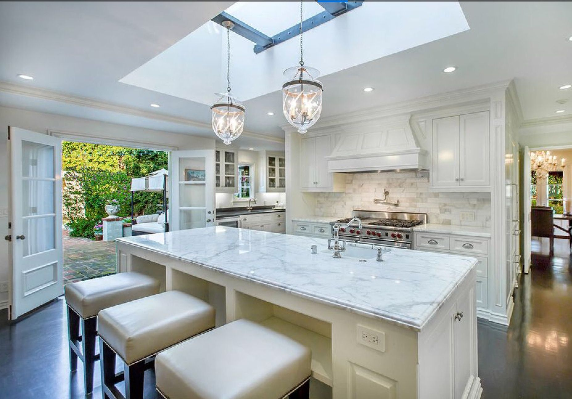 kitchen island industrial remodeled kitchen of classic 1929 estate skylight 1929