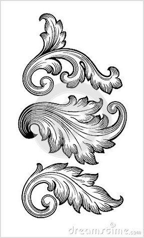 baroque leaf ornament google search 刺繍 図案 模様 唐草 模様 baroque leaf ornament google search