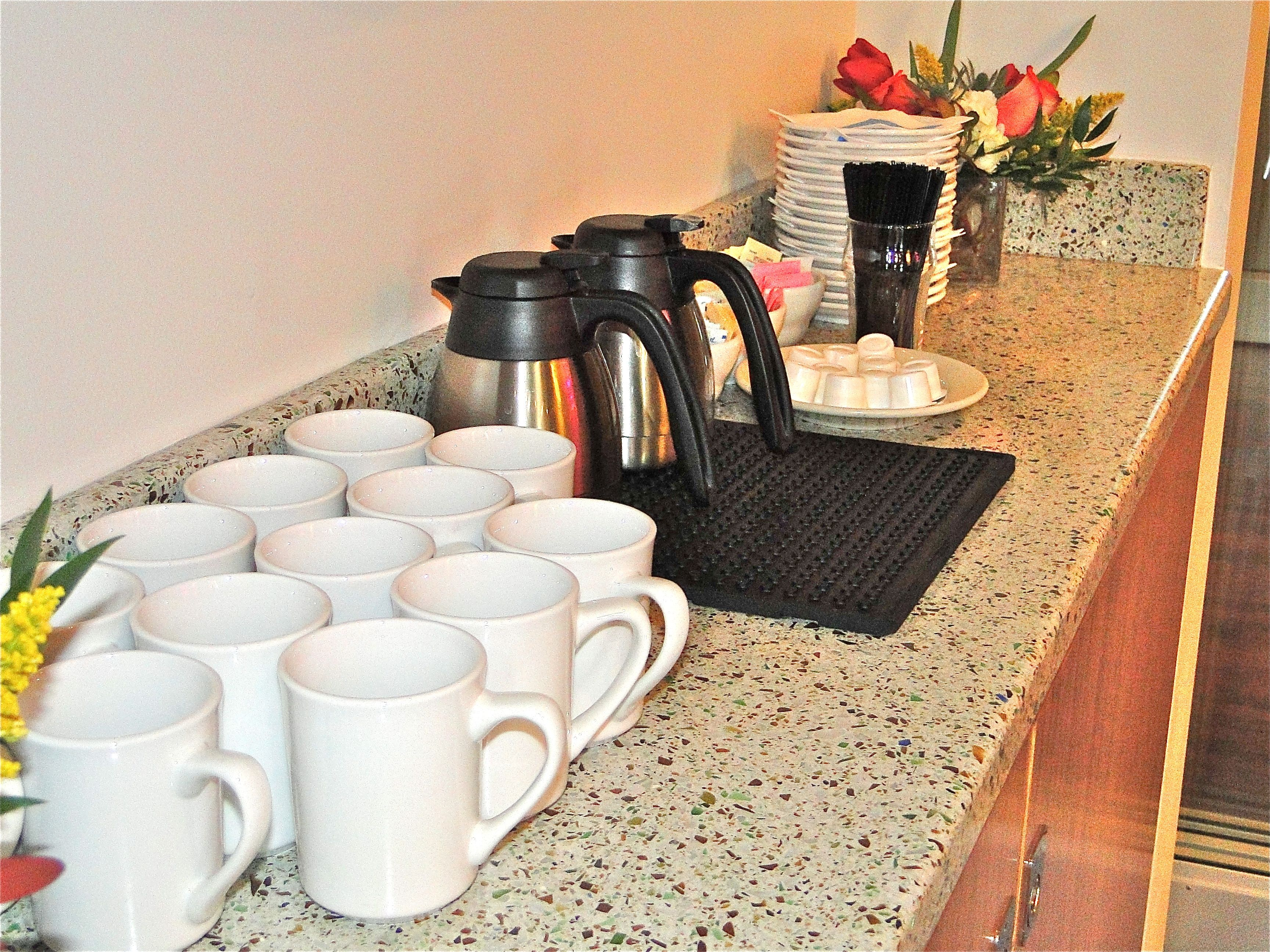Coffee Station Set Ups Can Be Added On For Business Meetings