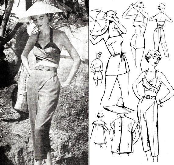 des années 1950 des années 50 maillots de bain 5 pièces ensemble ...