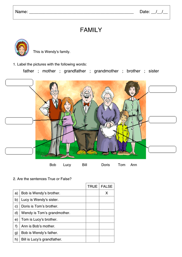 Family members | English | Pinterest | English writing, Vocabulary ...