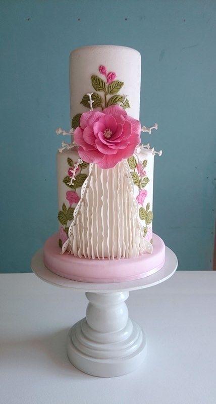 A birthday cake shabby chic cakes Pinterest Birthday cakes