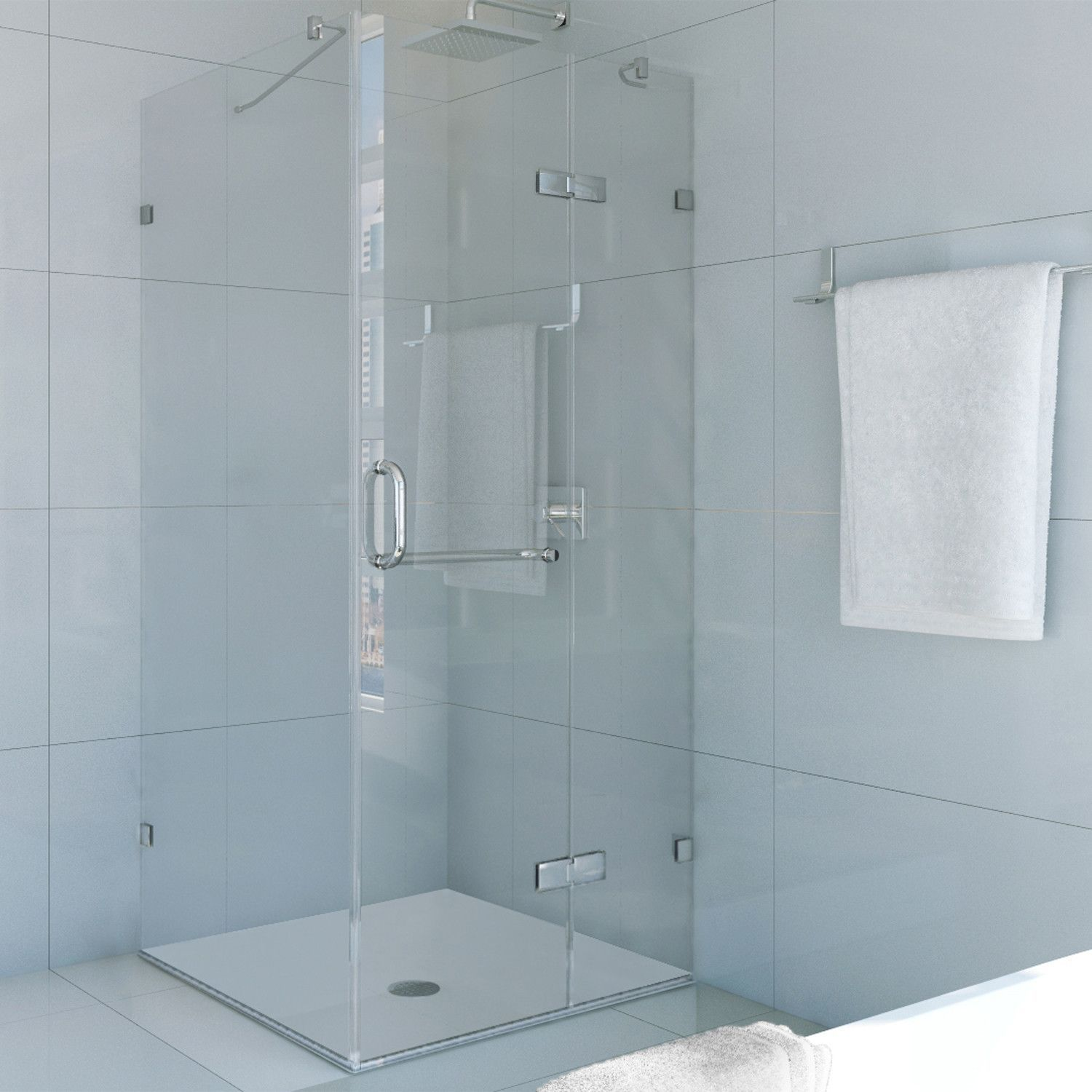 Monteray 32 x 32-in. Frameless Shower Enclosure with .375-in ...