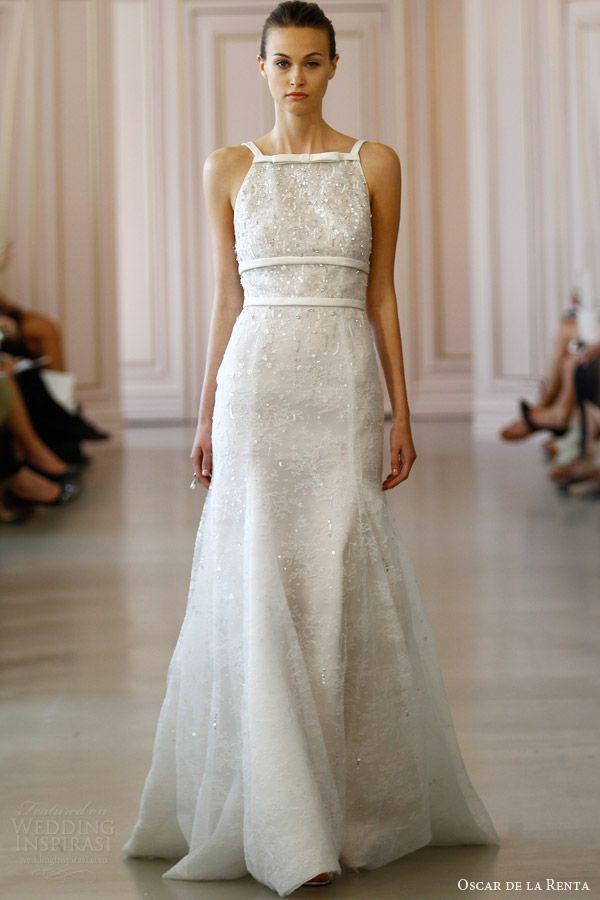 ec6bdd23333 Oscar de la Renta Bridal Spring 2016 Wedding Dresses in 2019 ...