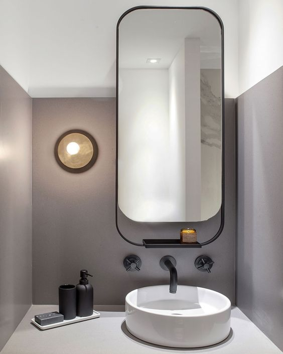 Spiegel badkamer afgeronde hoeken - Interieur | Pinterest - Spiegel ...
