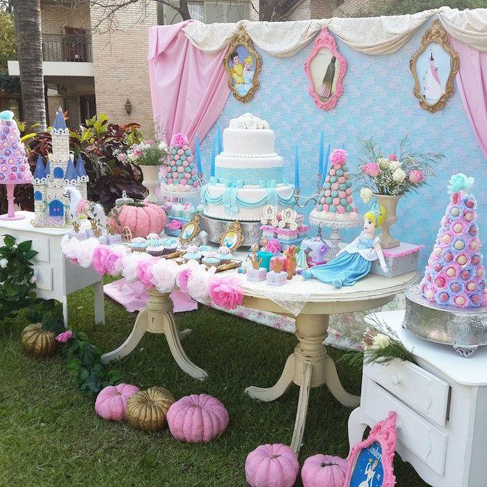 Princess Cinderella Birthday Party Via Kara S Ideas Karaspartyideas Cinderellaparty Princesscinderella Cinderellabirthdayparty