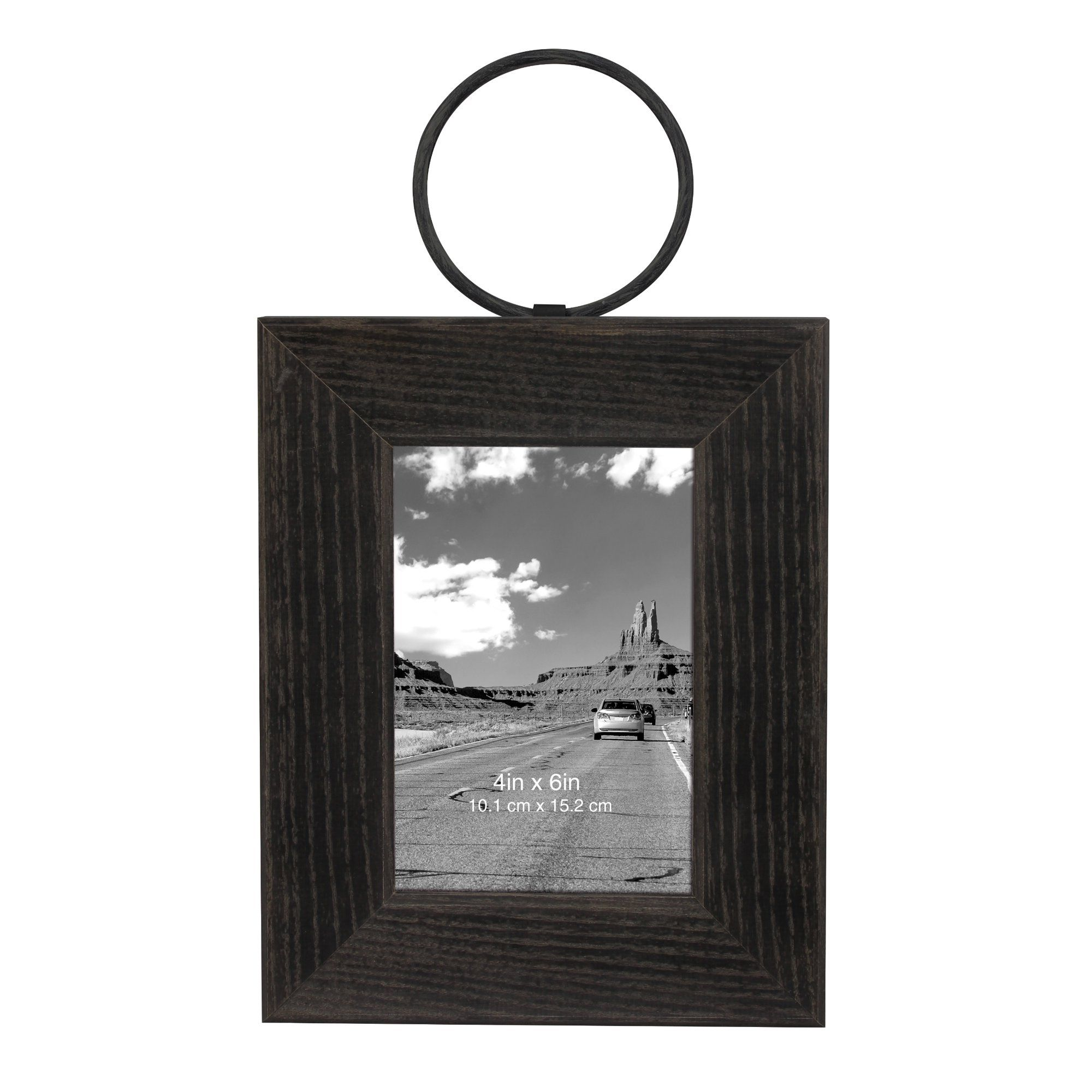 Better Homes Gardens Wooden Hanging Frame With Metal Ring Walmart Com In 2020 Hanging Frames Unique Picture Frames Rustic Picture Frames