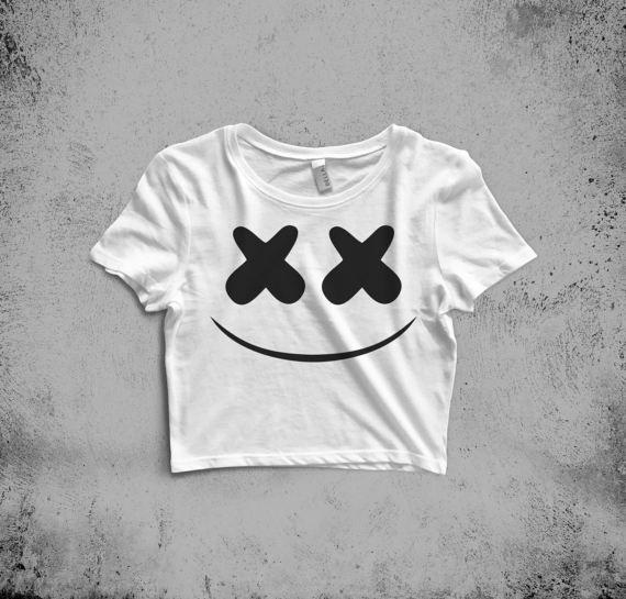 57101afba Marshmello Crop Top DJ Shirt Mellogang EDM Festival Shirt | Shit I ...