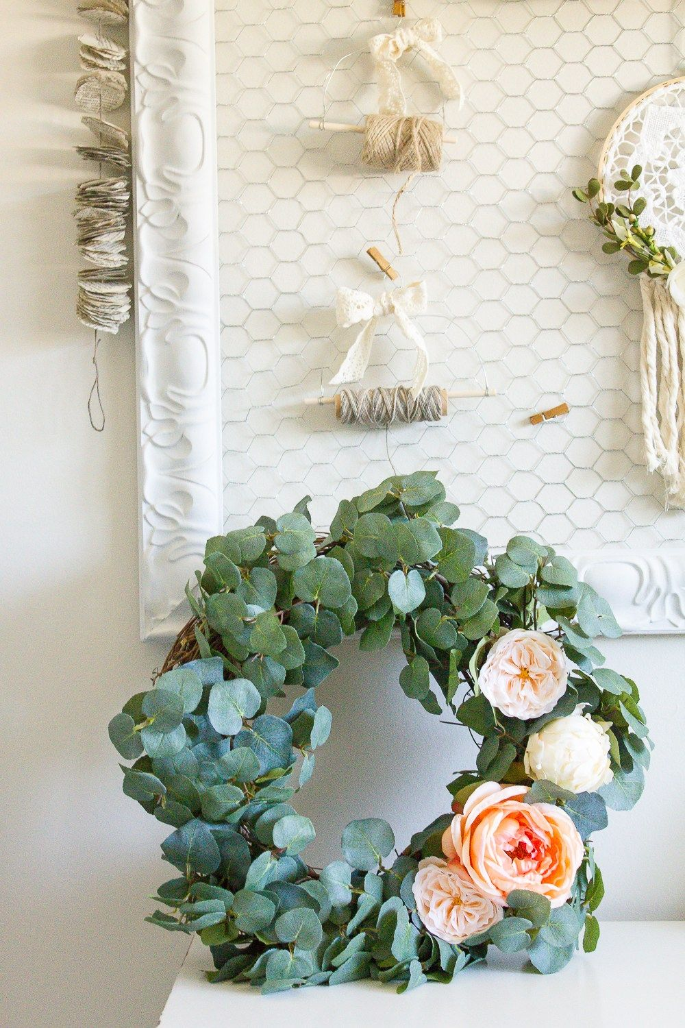 Farmhouse Home: How to Make your own DIY Eucalyptus Wreath ...