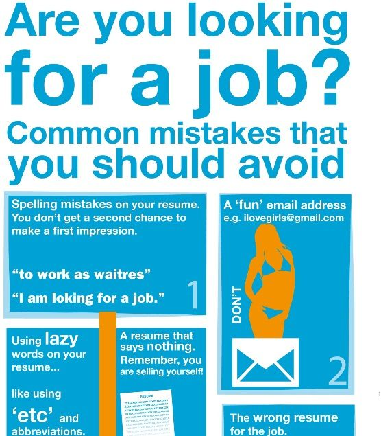 Common yet easily avoidable mistakes when looking for work Did