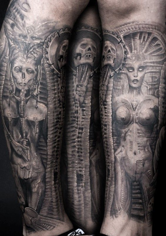 a7d7d365beef8 H.R Giger - Tattoo Tribute - Canadian Ink | Giger Tattoos | Giger ...