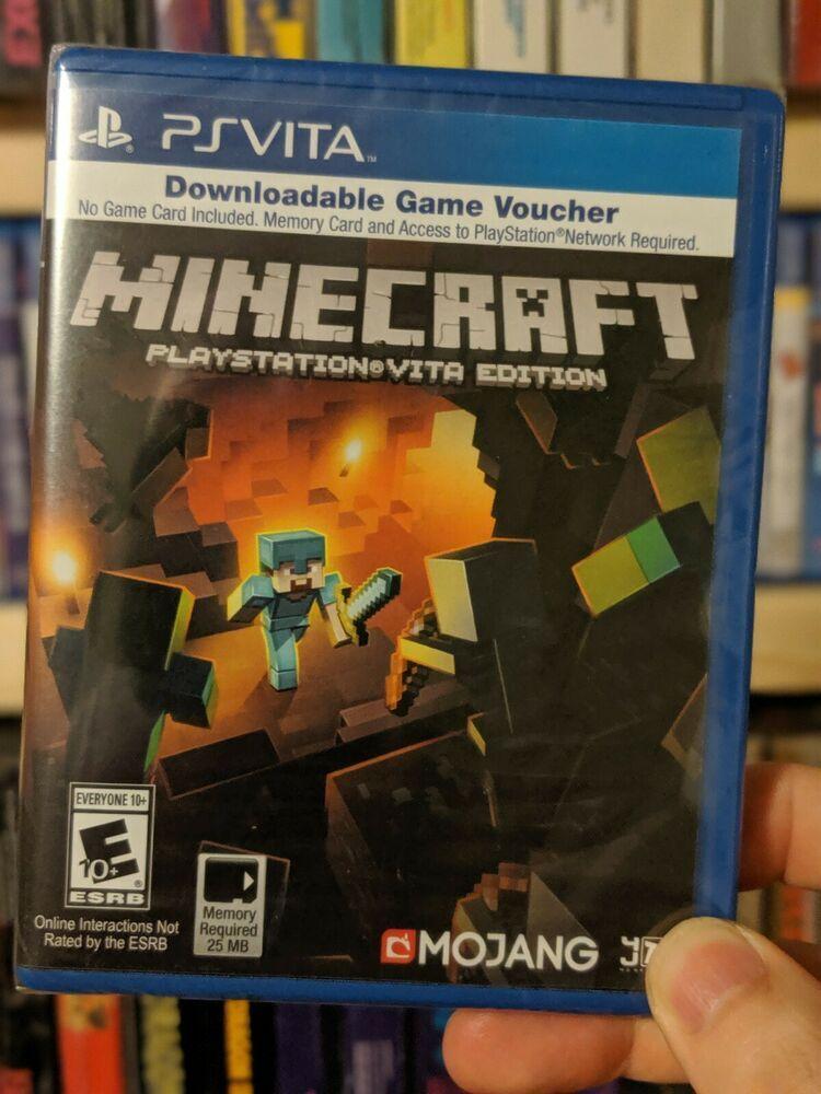 Minecraft Playstation Vita Edition (No Card) Digital Only Brand New