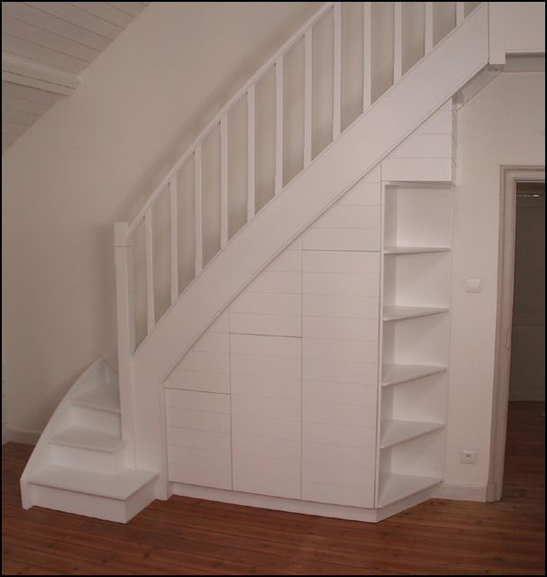 rangement escalier - Recherche Google | Amenagement escalier, Meuble sous escalier, Rangement maison