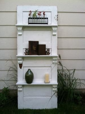 Turn An Old Door Into Shelves Or A Bookcase By Staci21 Creative Ideas Pinterest Doors And Repurposed
