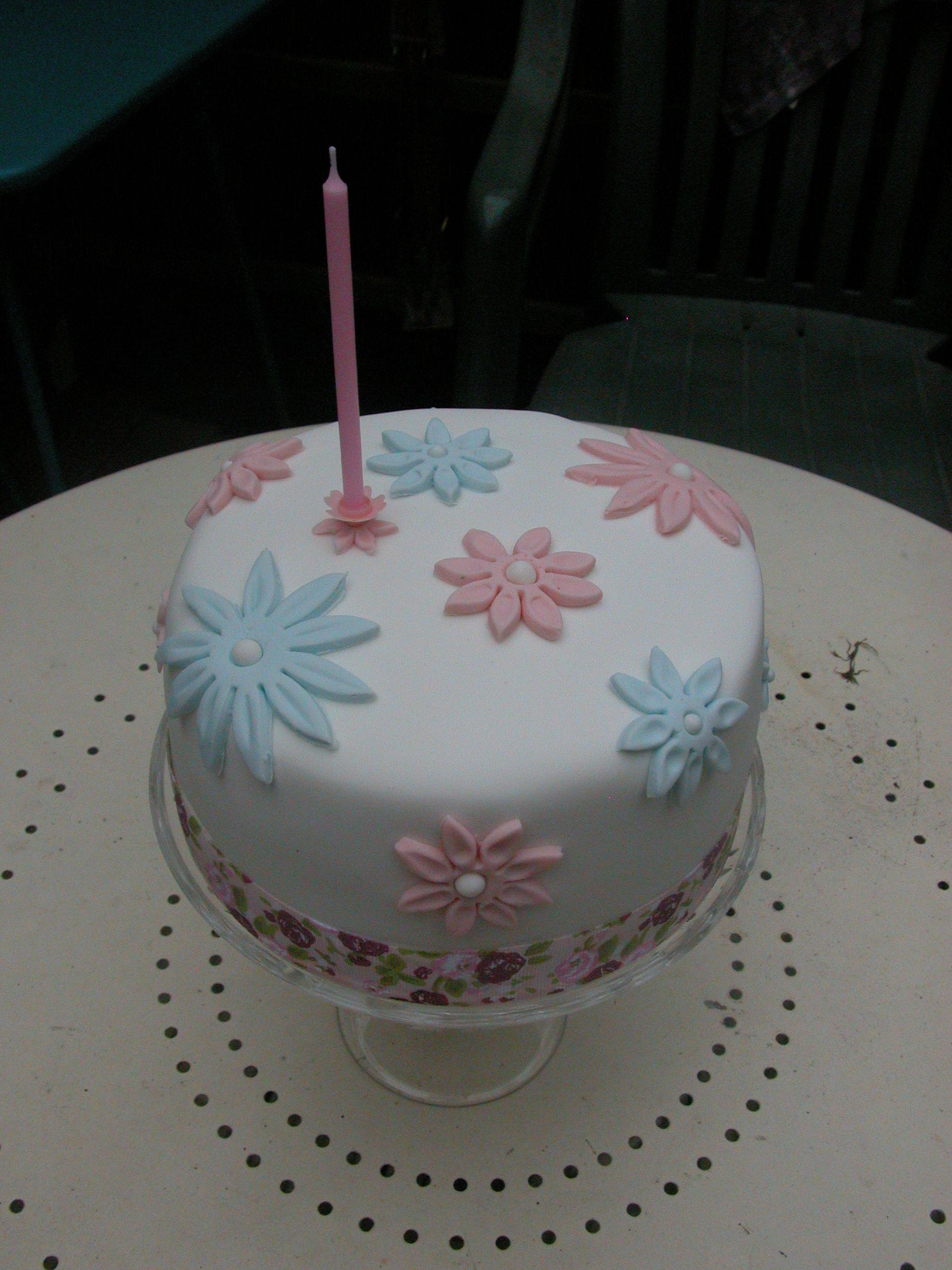 Spring Birthday Cake Pastle Blue Pink Projects To Try