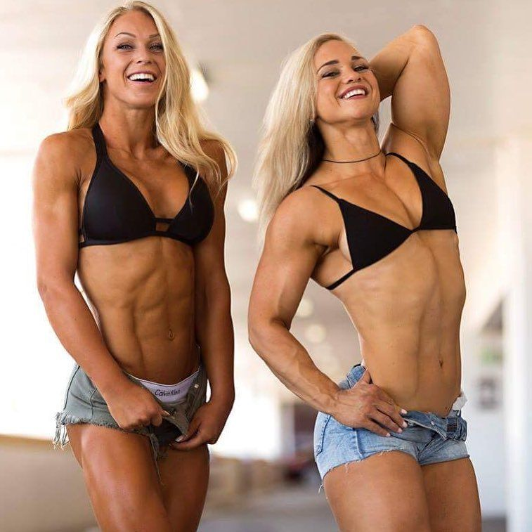 Female bodybuilder posing in bikini high resolution stock photography and images