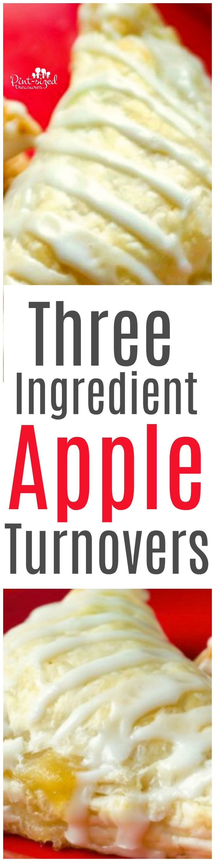 3 Ingredient Easy Apple Turnovers Only three ingredients are needed to bake up these super easy and crazy yummy apple turnovers! This easy apple turnovers recipe is so easy you can ALMOST make it in your sleep -- almost...;0)