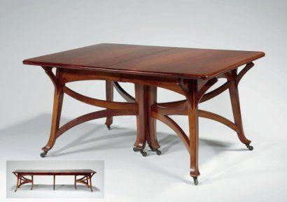 Henry van de Velde Dining table Art nouveau furniture