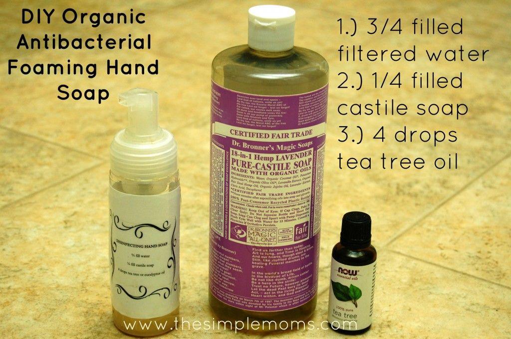a simple DIY organic antibacterial hand soap Foaming