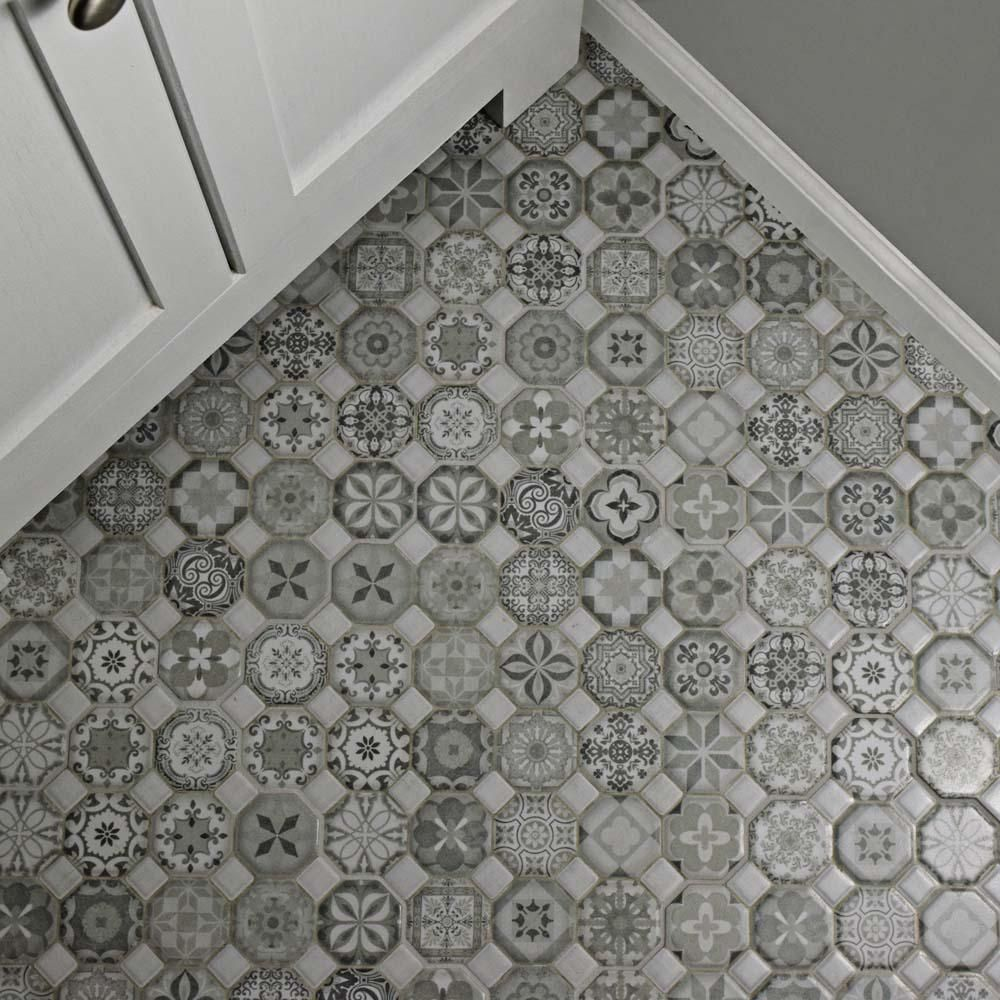 Merola Tile Tessera Grey 12 1 4 In X 12 1 4 In Ceramic Floor And Wall Tile 14 11 Sq Ft Case Fostesgr The Tile Floor Ceramic Floor Ceramic Mosaic Tile