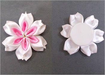 DIY Satin Ribbon Flowers for Decoration