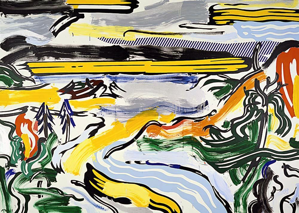 Roy Lichtenstein 1985 - RIVER VALLEY - Magna on canvas (196 x 274 cm) | Pop Art #Creativo #Concepts @deFharo