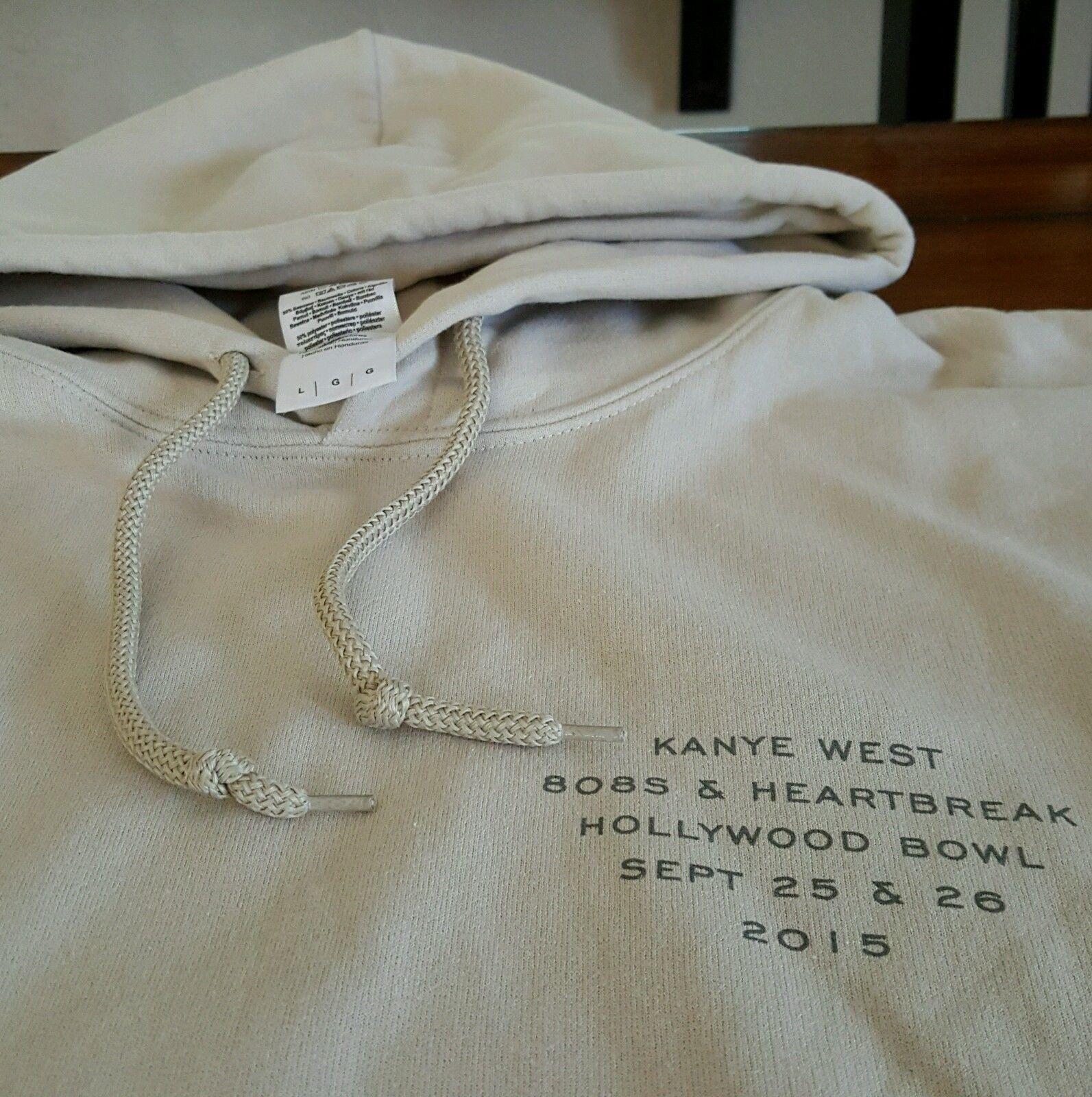 Yeezus Tour Merch Kanye West 808s Heartbreak Hollywood Bowl Hoodie Sz L Sand Hoodies Men Hoodies Kanye West