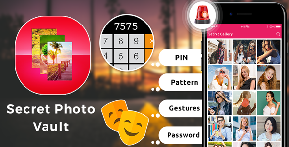 Secret Photo Vault Android App + Admob (With images