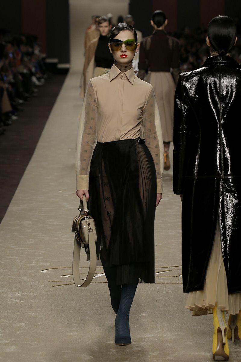 Women S Fall Winter 2019 20 Fashion Show Creative Director Karl Lagerfeld And Silvia Venturini Fendi Fashion Fashion Clothes Women Clothes