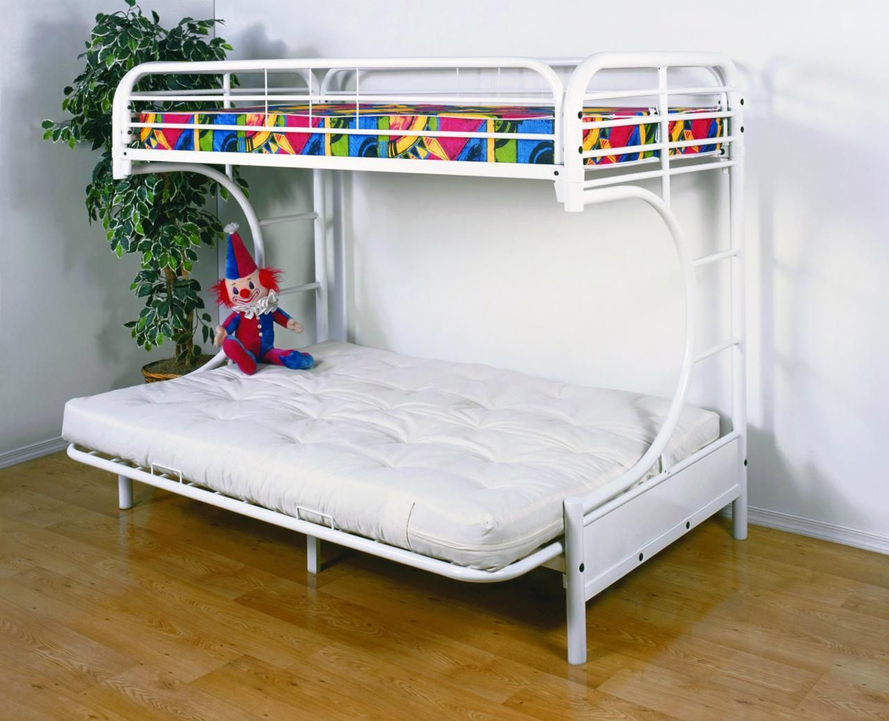 Metal Bunk Beds Twin Over Full Futon Interior Paint
