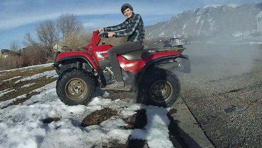 ATV burnout pisses off neighbors