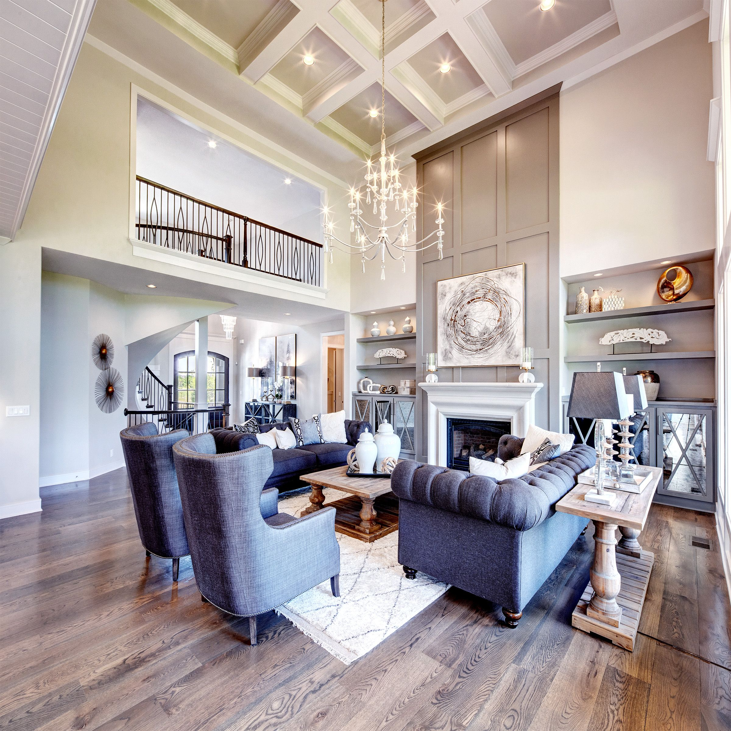 Living Room Tall Ceiling Living Room High Ceiling Living Room Built In Shelves Living Room