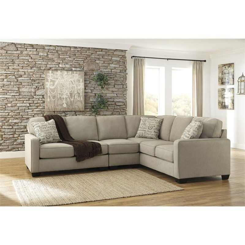 Ashley Furniture Alenya 3 Piece Sectional Sofa in Quartz | Pinterest