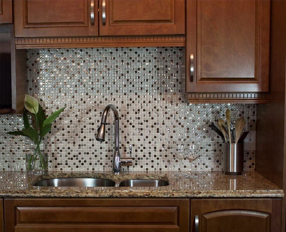 Stick on tiles backsplash
