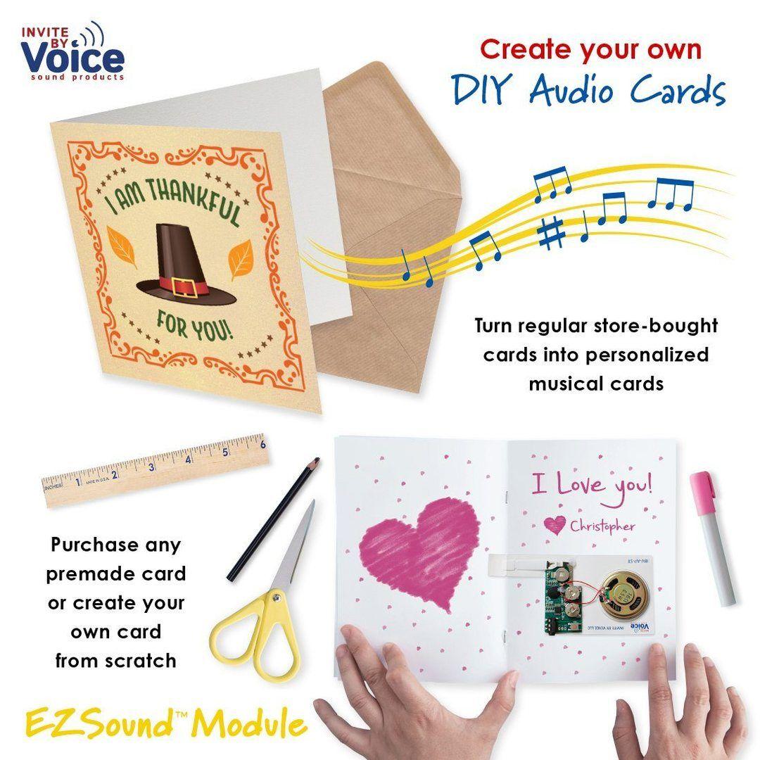 Ezsound Module Diy Greeting Card Recordable Sound Module Musical Greeting Cards Recordable Greeting Cards Greeting Cards Diy