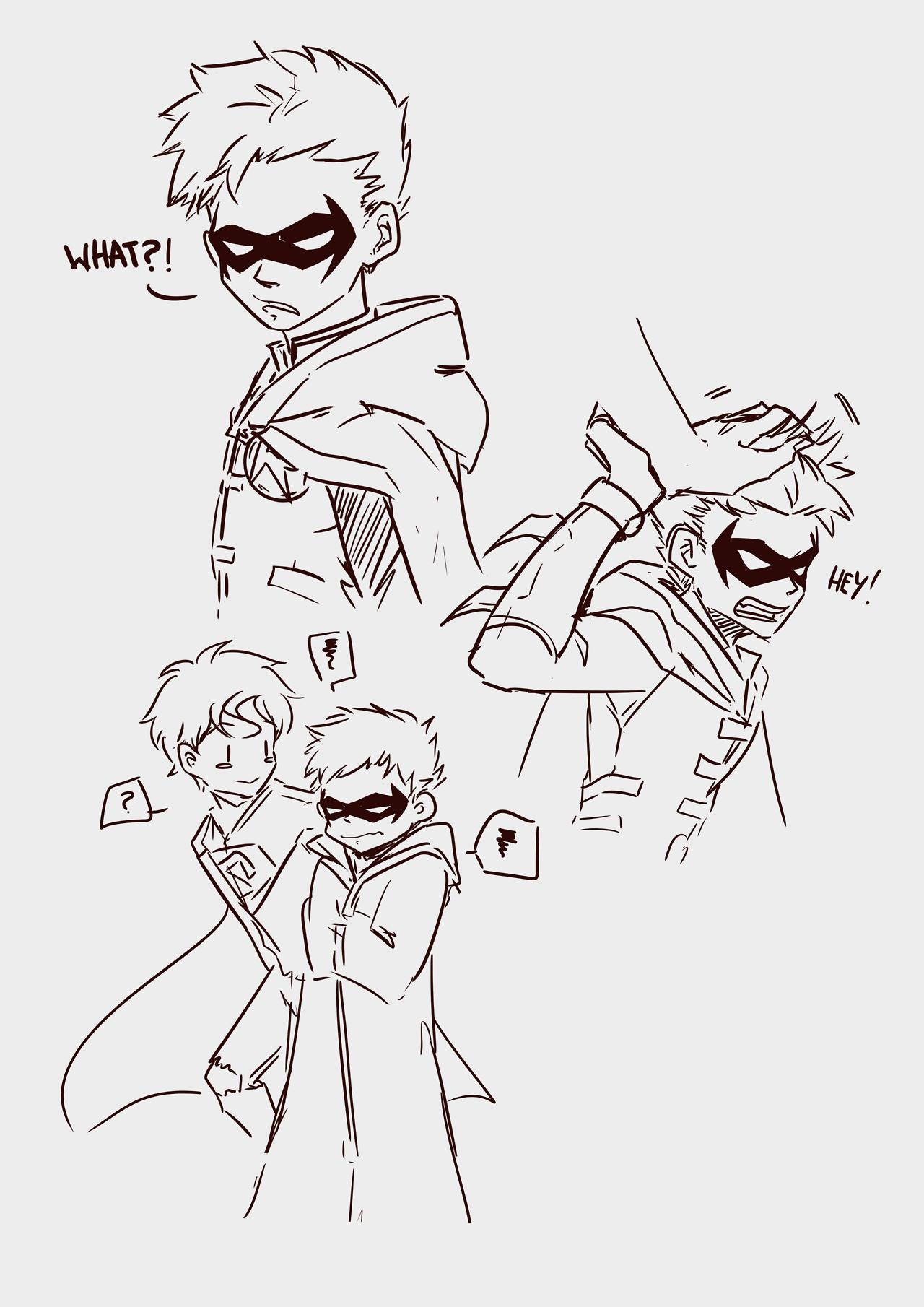 "flipityflip:  ""Doodled Damian with ruffled hair XD  """