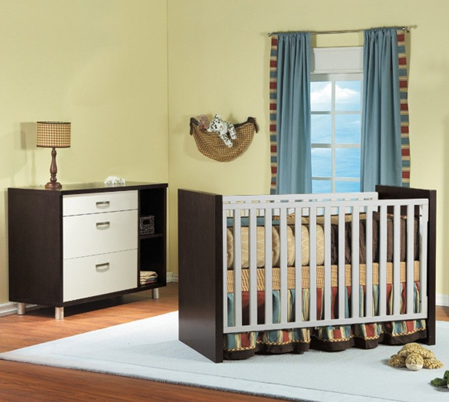 Pali Milano 2 Piece Nursery Set in White and Mocacchino from ...